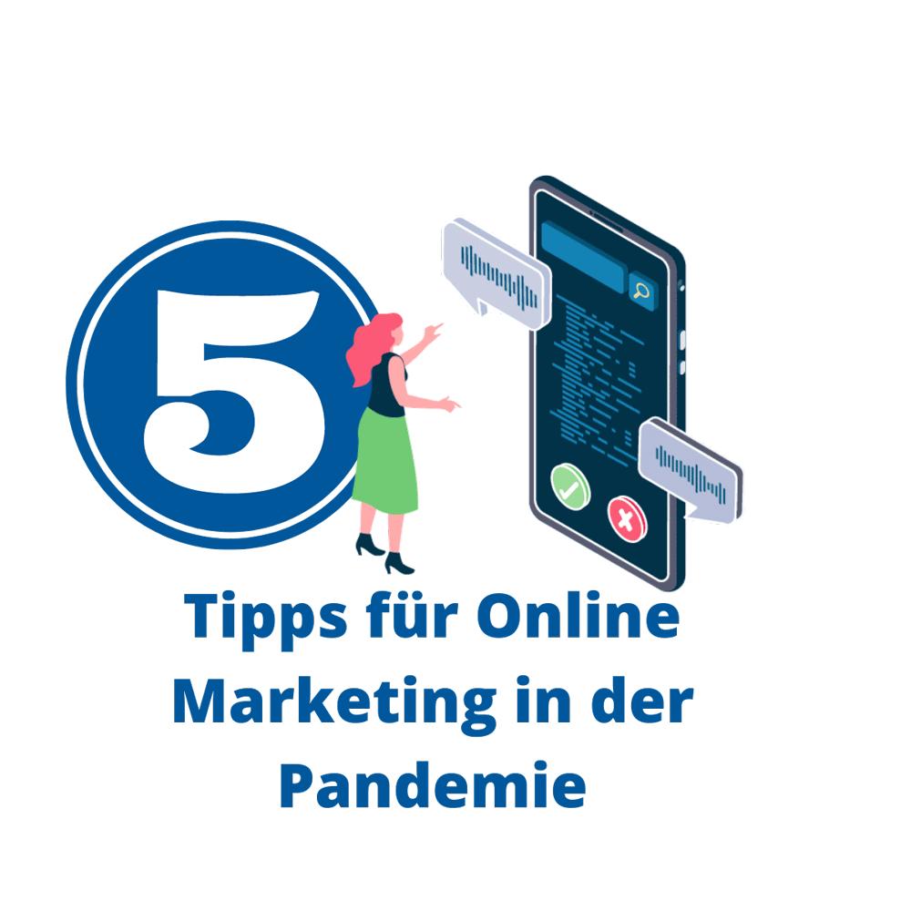 Online Marketing Corona Covid Pandemie